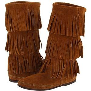 Minnetonka tassle boots